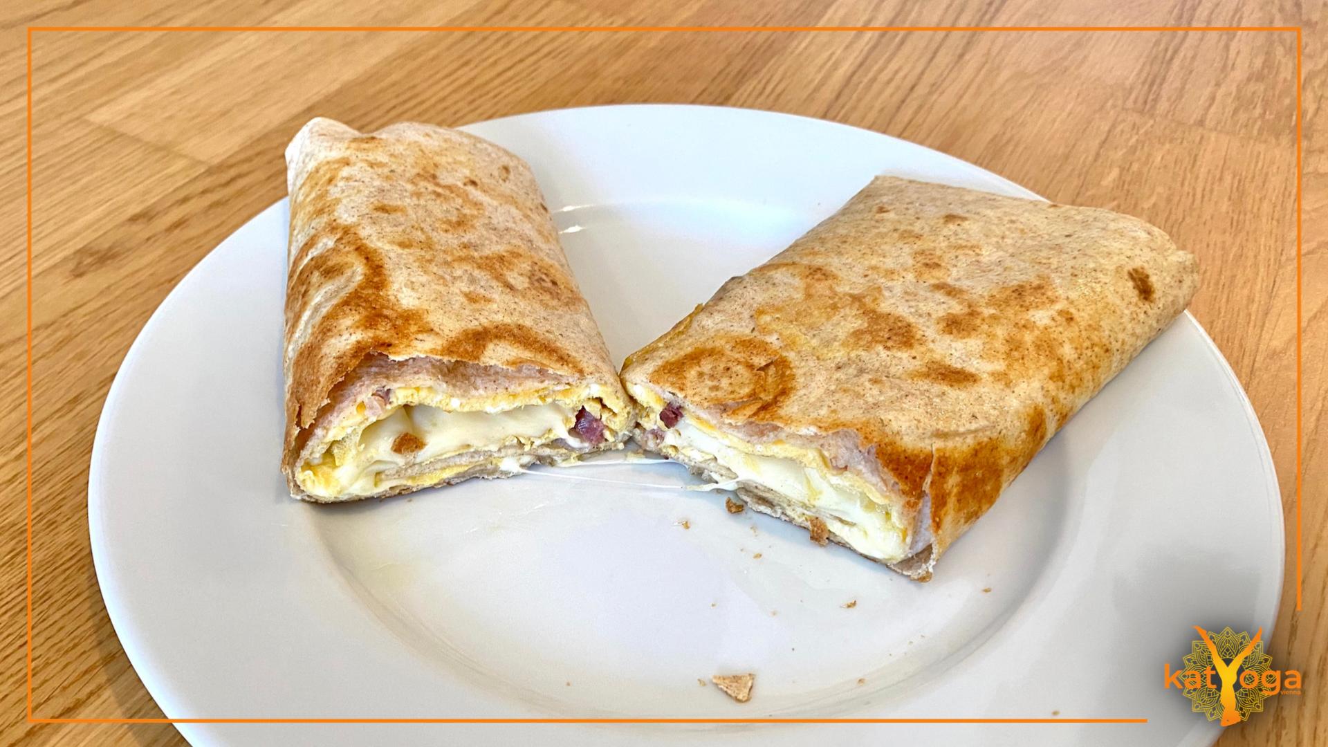 Omelette Wrap mit Käse